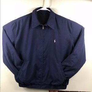 Ralph Lauren Polo Men's Medium Zip. Jacket Navy